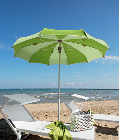 Curved Ribs Umbrella for Beach and Garden - Klee - Ombrellificio Magnani 01