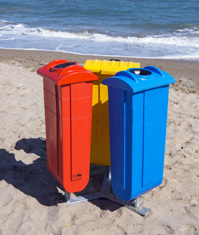 Recycling waste garbage bins