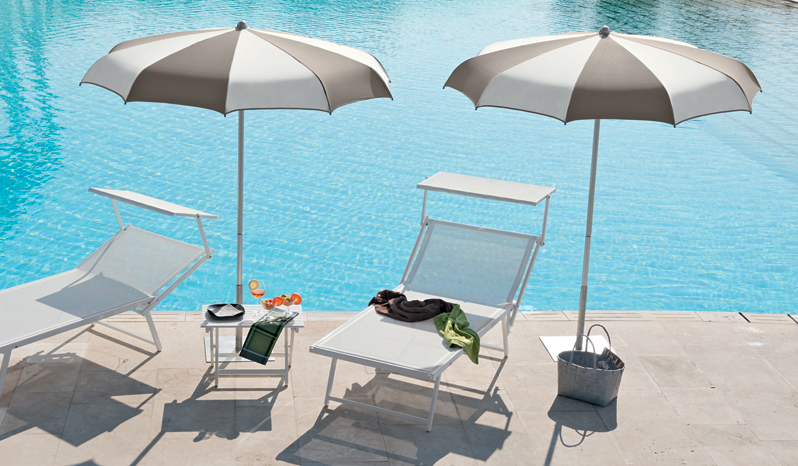 Curved Ribs Umbrella for Beach and Garden - Klee - Ombrellificio Magnani 02
