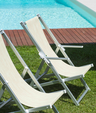 La Sdraia O La Sdraio.Beach Deckchairs Garden Deckchairs Ombrellificio Magnani
