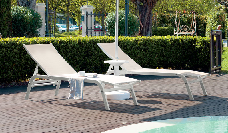 Aluminium Sunbeds for Beach, Swimming Pool and Garden- Navy 901 - Ombrellificio Magnani 02
