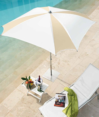 Semi Square Beach Umbrella, Semi Square Garden Umbrella  - Mondrian - Ombrellificio Magnani 01